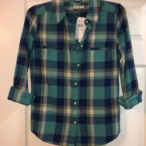 Roxy Flannel Size Small Brand New With Tags